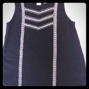 Cute Embroidered Tank Top